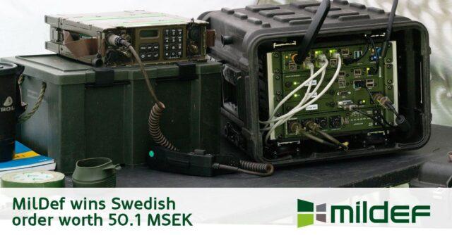 MilDef Group wins Swedish order worth 50.1 MSEK