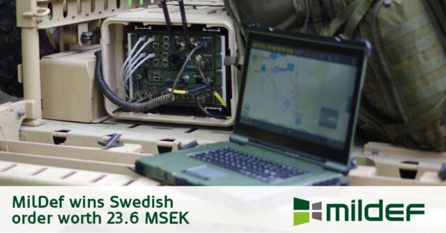 MilDef Group wins Swedish order worth 23.6 MSEK
