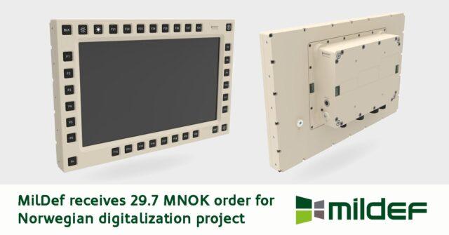 MilDef receives 29.7 MNOK order for Norwegian digitalization project