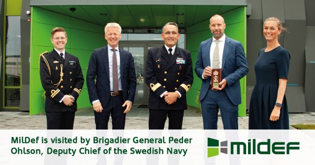 Visit by Brigadier General Peder Ohlson, Deputy Chief of the Swedish Navy